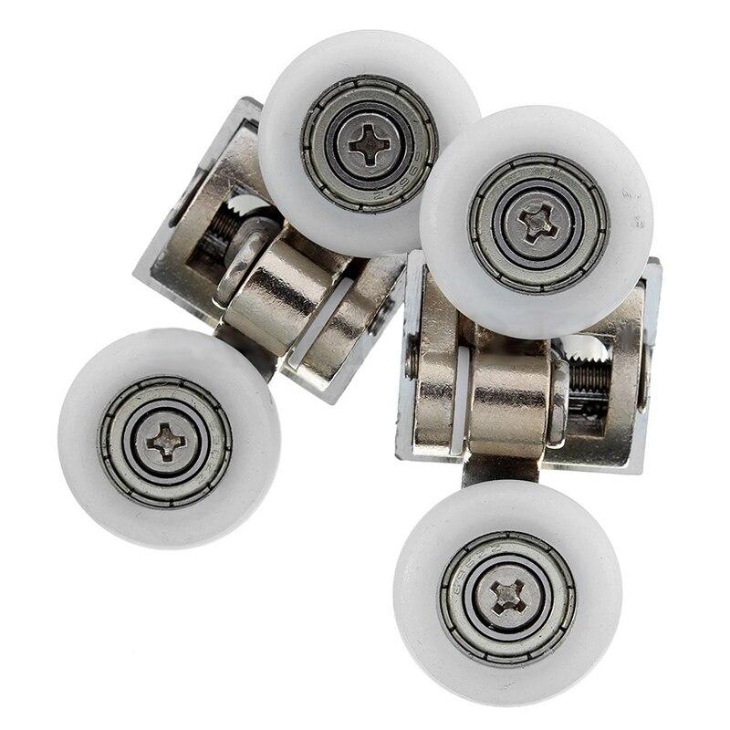 2x 23mm Heavy Duty Twin Top//Buttom Shower Door Wheels Rollers Runners Bathroom !