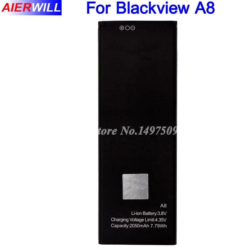 Pour Blackview A8 Batterie de Remplacement 2050 mAh Haute Qualité Bateria Batterie Batterij Accumulateur