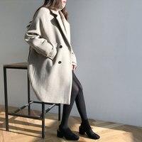 HEE GRAND двубортная женская одежда толстый длинный плащ женский 2019 осенние свободные куртки элегантный OL черный блейзер WWN1210