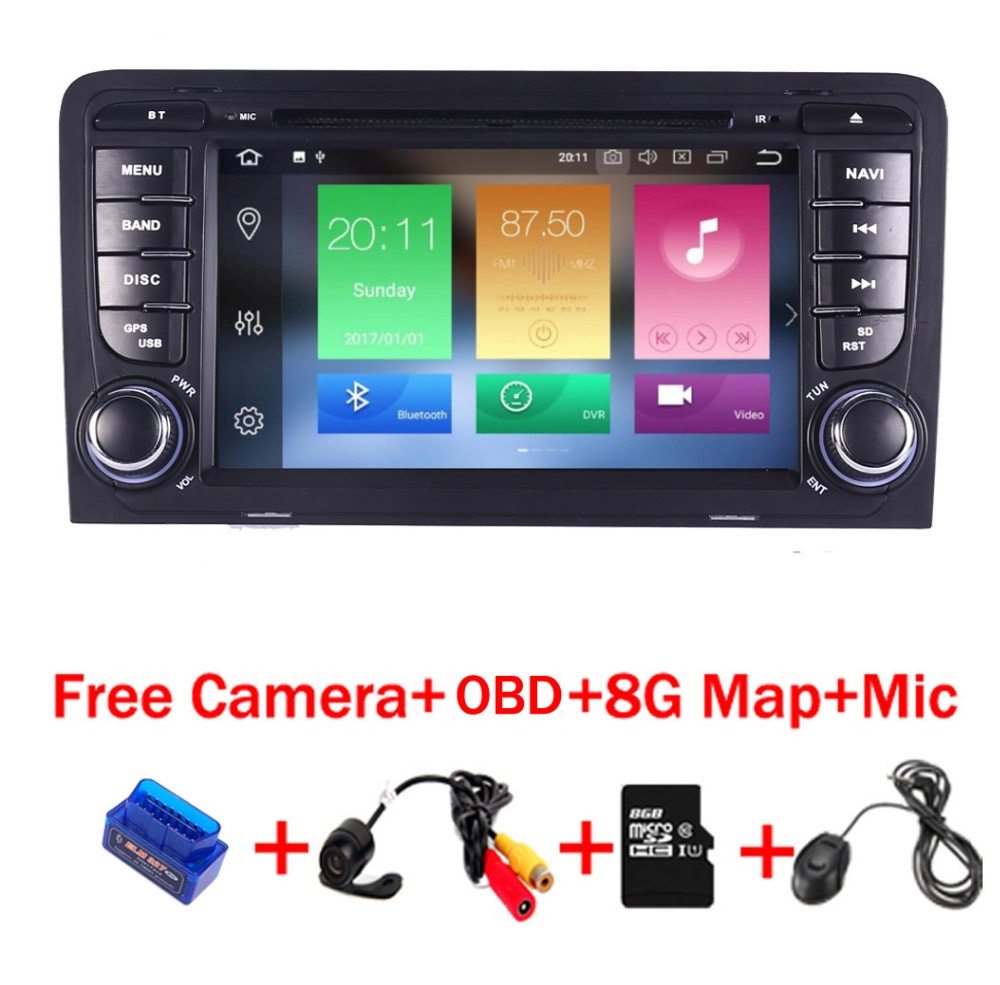 4G+32G 8 Core Android 8.1 car radio multimedia player for Audi A3 S3 dvd player Wifi 3G radio stereo Audio stereo gps navigation