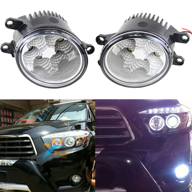 1 Pair 32w 2200lm Epsitar waterproof fog lights for Toyota corolla EX prius Camry Auris Avalon 12V Drl Daytime running Light