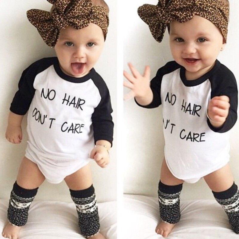الرضع طفل الاطفال طفل صبي فتاة طويلة الأكمام القطن عارضة t-shirt عموما المحملة القمم الزي الملابس