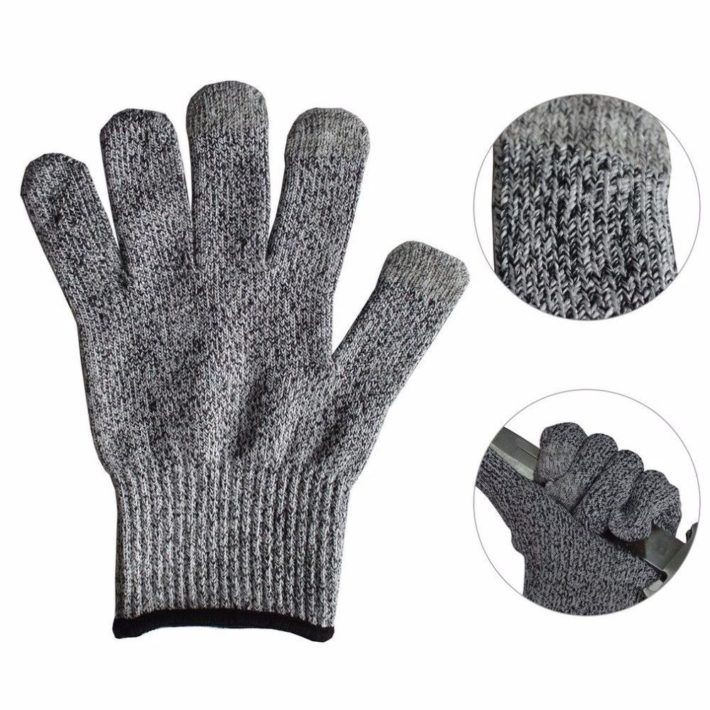 1 Pair of Cut-Resistant Gloves HPPE Anti-Cut Wear-Resistant Working Safety Touch Screen Gloves Anti Abrasion Gardening Work футболка классическая printio футболист