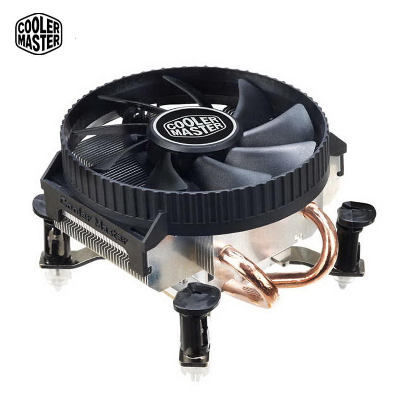 Cooler Master CPU cooler Dual heatpipes 58mm height for HTPC Mini computer Case Compatible 775 1150 1151 1156 CPU cooling fan