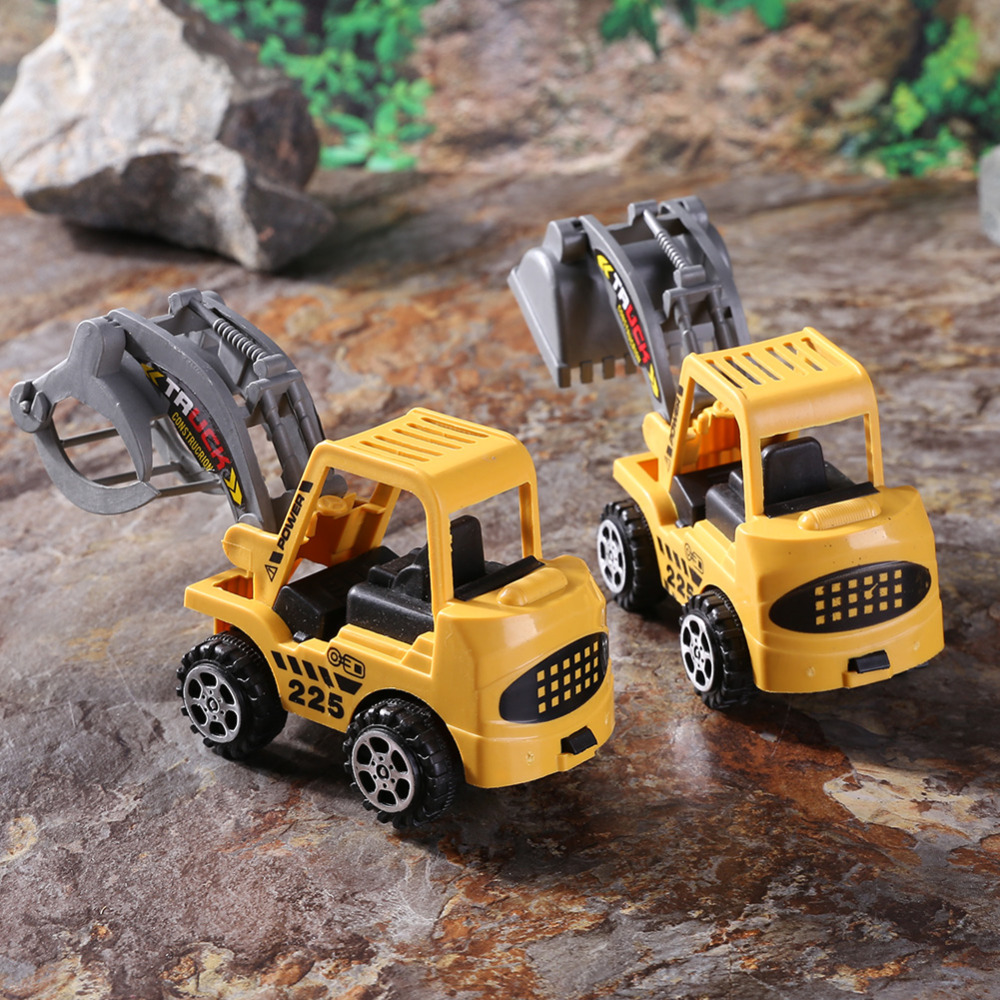 6pcs/lot Mini Car Toys Vehicle Sets Construction Bulldozer Excavator Engineering Vehicle Baby Kids Educational Toy Birthday Gift