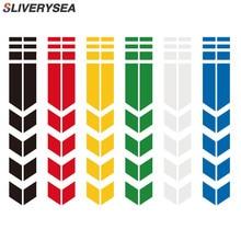 SLIVERYSEA 34x5.5cm Car Motorcycle Fender JDM Reflective Sticker Affixed DIY Pinstripe Car Stickers For YAMAHA HONDA