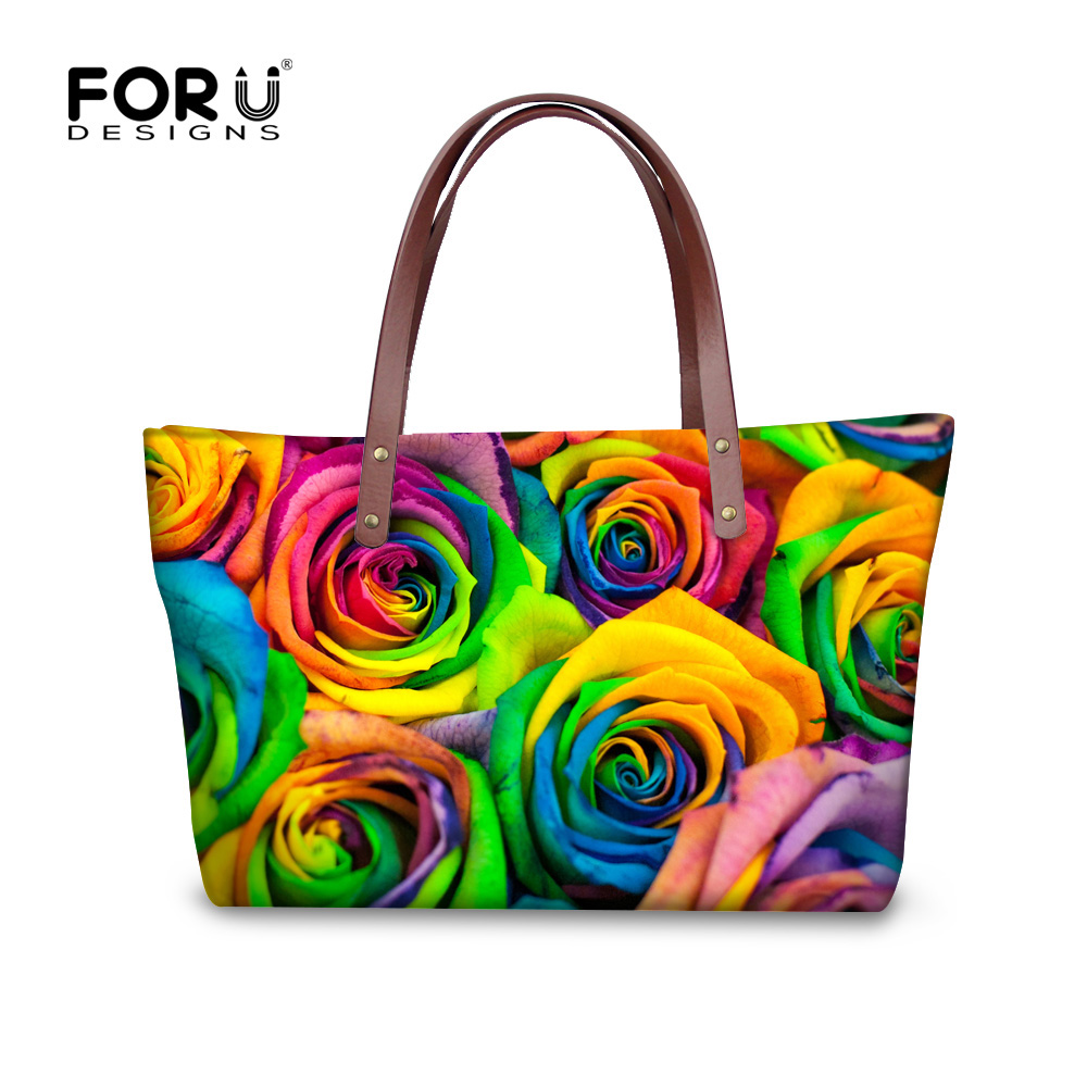 ФОТО Famous brand vintage flower women shoulder bag floral rose lady handbag bags candy color large tote bolsa feminina messenger bag