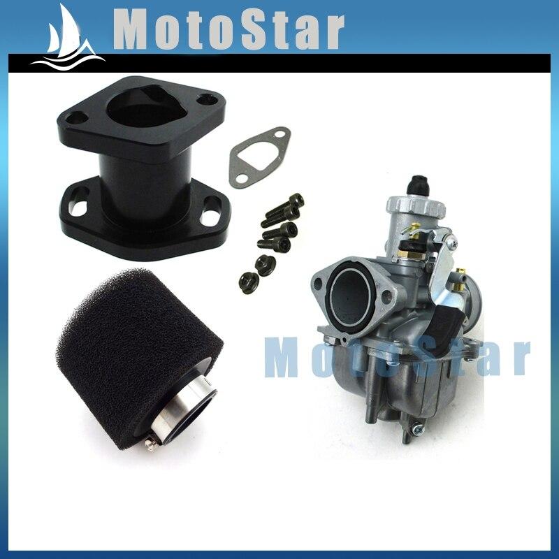 Performance Mikuni VM22 3847 Carburetor Carb Mainfold Air Filter Cleaner  Bolts For Predator 212cc GX200 196cc Mini Bike Go Kart