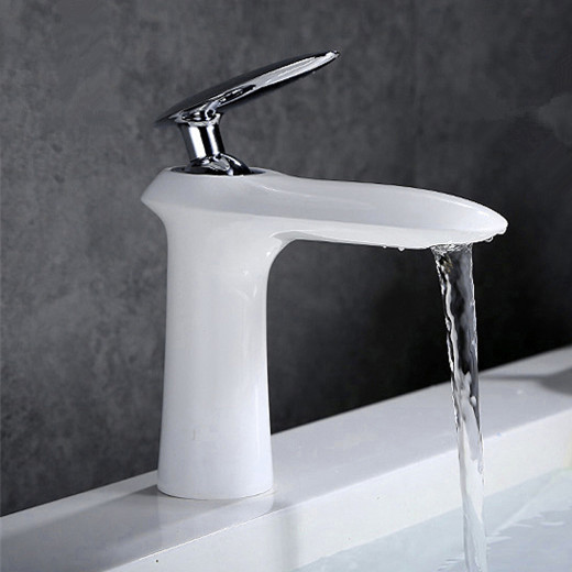 2018 Whole Original New Brand Patent Unique Design Br White Bathroom Faucet Wash Basin Mixer Taps In Faucets From Home Improvement On
