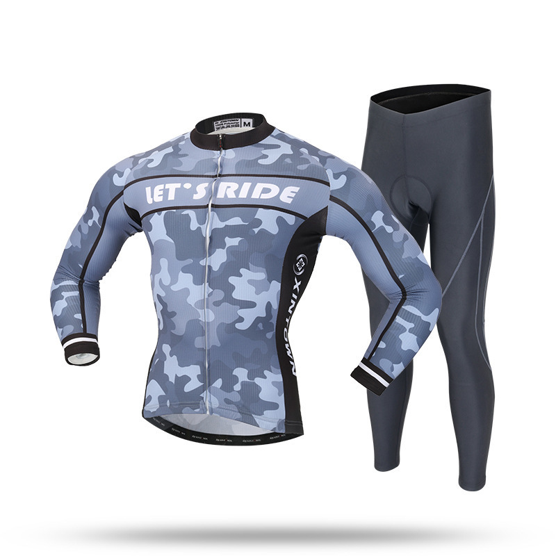 XINTOWN 2018 Spring Long Sleeve Cycling Jersey Set Clothing Maillot Ropa Ciclismo Bicycle Wear Clothing Bike Uniform Cycling Set veobike winter thermal brand pro team cycling jersey set long sleeve bicycle bike clothing pantalones ropa ciclismo invierno