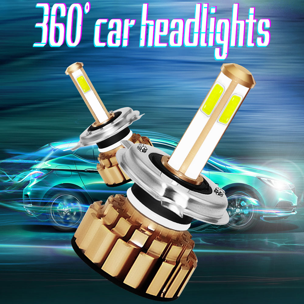 H4/HB2/9003 8000LM LED Headlight LED Fog Light Front Lamp Super Bright High Power Replacement Light Bulbs Safety