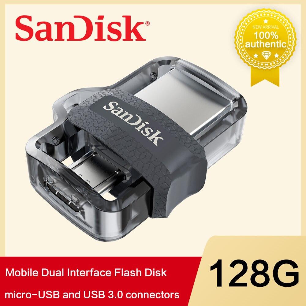 SanDisk USB Flash Drive 16GB 32GB 64GB 128GB OTG USB Pendrive 3.0 Dual Mini Pen Drives Memoria Usb Flash Stick Cle Usb Bellek