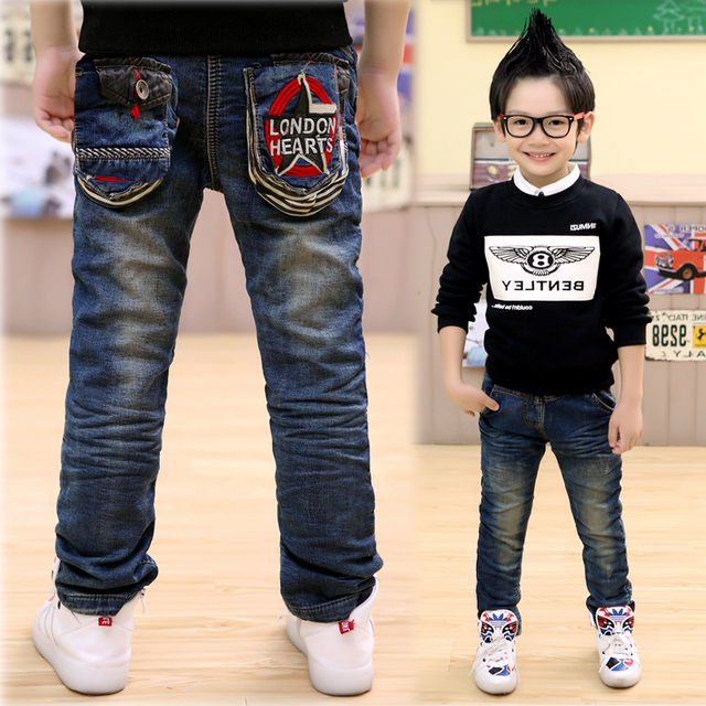 2016 spring new Korean version of the cowboy star long tide pants Five star combination of cowboy pants