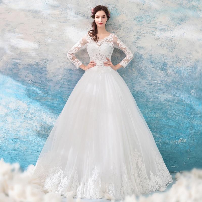 Vintage Three Quarter Length Wedding Dresses: Vintage Illusion Wedding Dresses Three Quarter Length