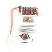 цена на 6 Strings Electric Guitar Single Red Bronze Tremolo Locking Bridge System With Bar For Strat New