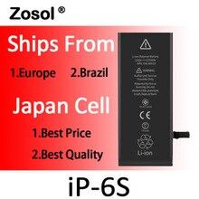 10 шт./лот происхождения японии ячейки Батарея для iPhone 6 S iPhone 6 S замены аккумулятор внутренний Bateria для iPhone 6 S