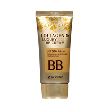 3W CLINIC Collagen & Luxury Gold BB Cream (SPF50+/PA+++) 50ml Natural Perfect Coverage Cream Facial Care Foundation Concealer