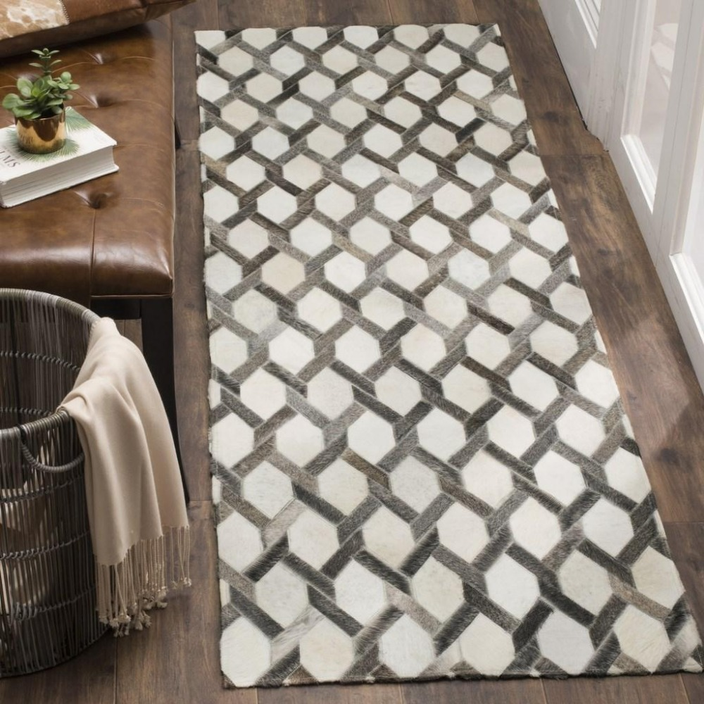 compare prices on contemporary kitchen doors online shoppingbuy  - ivory  grey genuine hide rugs hand woven contemporary leather naturalcowhide rug(china)