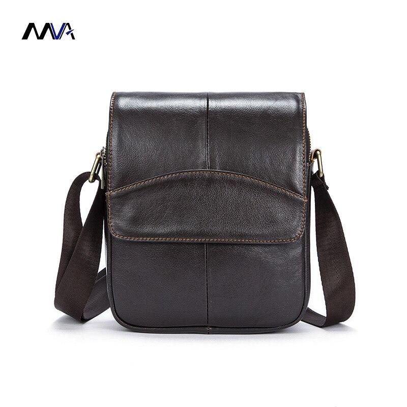 MVA Man Vertical Genuine Leather bag Men Messenger Business Men's Briefcase Designer Handbags High Quality Shoulder Bags все цены