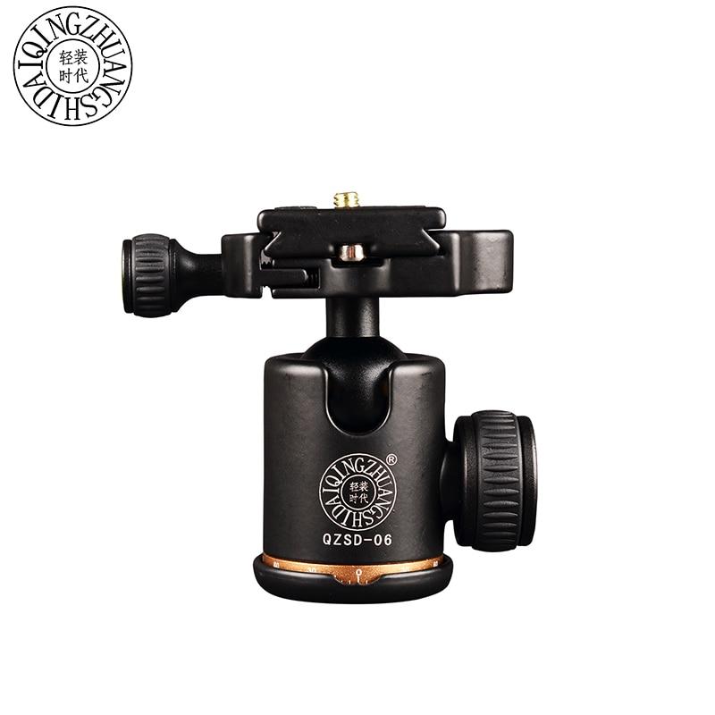 QZSD-06 Алюминиевый Штатив Камеры Шаровой Головкой Ballhead + Quick Release Plate Pro Штатив Камеры