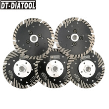 DT-DIATOOL 5pcs/pk 115mm/4.5inch Hot Pressed Diamond Turbo Blade Cutting Wheel For Stone & Concrete material Concrete Saw Blades