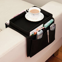 Arm Rest Chair Settee Couch Sofa Remote Control Table Top Holder Organiser Tray