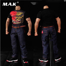 1:6 Scale Male Clothes Classic Denim Trousers Man Jeans Pants Fit 12 Inches Muscular Men Body Action Figure Accessories(China)