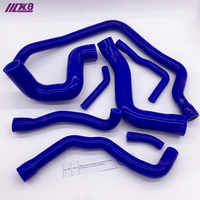 Water Silicone Radiator Hose Kit FOR BMW E34 M30 6CYC 525 528 530 89 95 (8Pcs)Red/Blue/Black