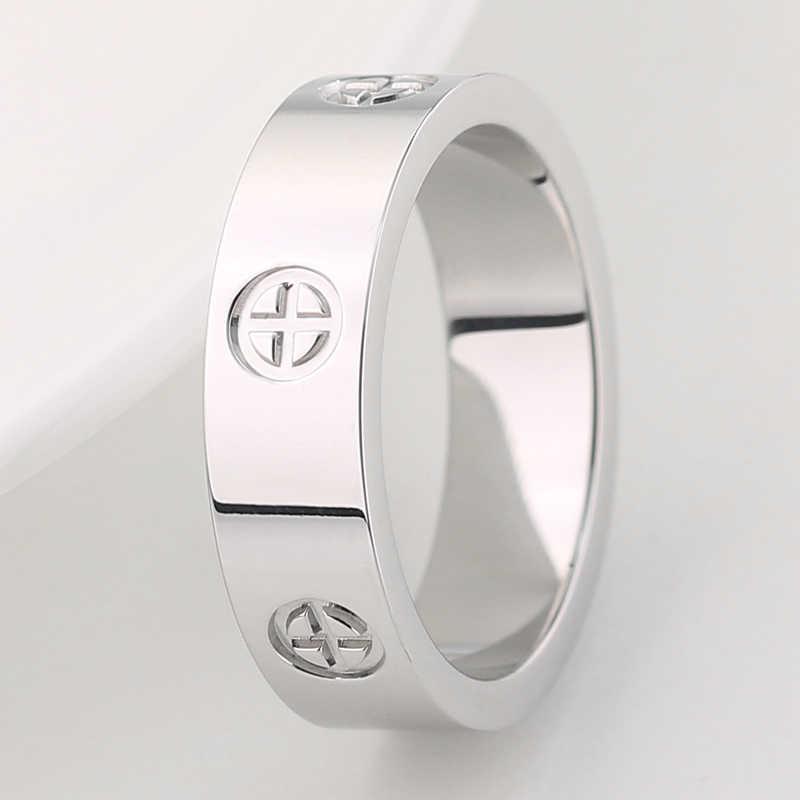Innopes thời trang của Philip ốc đầu nhẫn đính đá Zircon đơn giản Đồng hồ nam Nhẫn hoa hồng vàng Nhẫn Nữ Hot sale