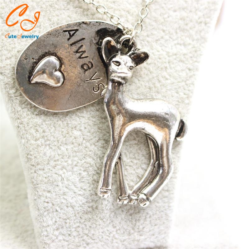 Peripheral accessories foreign trade sales of harry potter sika deer heart necklace factory direct sale