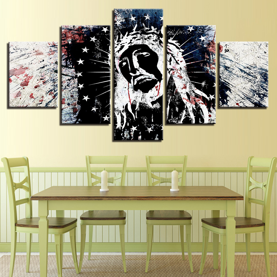 Canvas Home Decor Paintings Room Wall Art Framework 5 Pieces Native ...