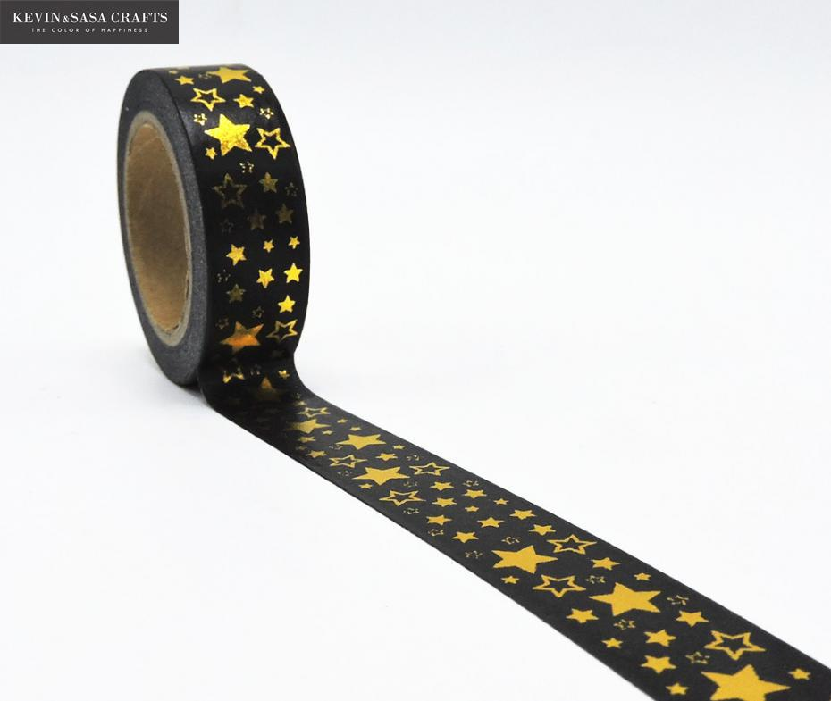 Foil Star Washi Tape Office Adhesive Scrapbooking Tools Kawaii  Photo Album Cute Decorative Paper Crafts Christmas Craft Gift