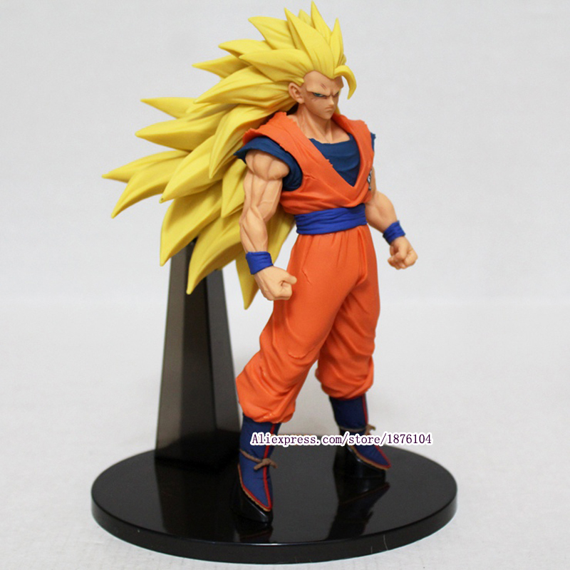 Anime Dragon Ball Z Goku Action Figur Juguetes ACGN Dragonball Super Saiyan 3 siffror Collectible Modell Barn Leksaker Brinquedos