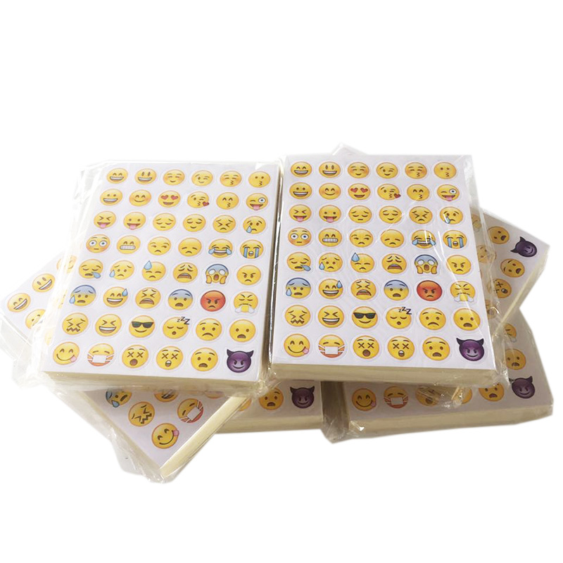 100 Sheets 48 Stickers Sticker 48 Different Emoji Smile Face Stickers For Notebook Phone Fun Message Twitter LargeHot Popular