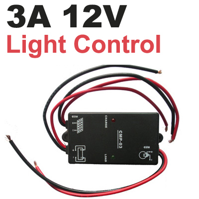 3A 12V Solar Controller lighting regulator Load on in the night from dark to dawn for solar street light garden light CMP03 f