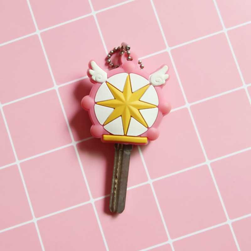 Anime japonés Kinomoto Sailor Moon llaveros Kawaii dibujos animados llaveros silicona cubiertas llaveros Cosplay llavero goma Pug
