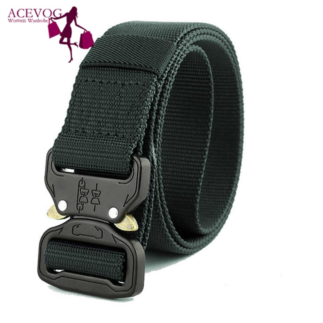 Quick Release Buckle Outdoor Safety Belt Quick-drying Alloy Casual, Sport, Nylon Belt Men 125cm/49.2inch