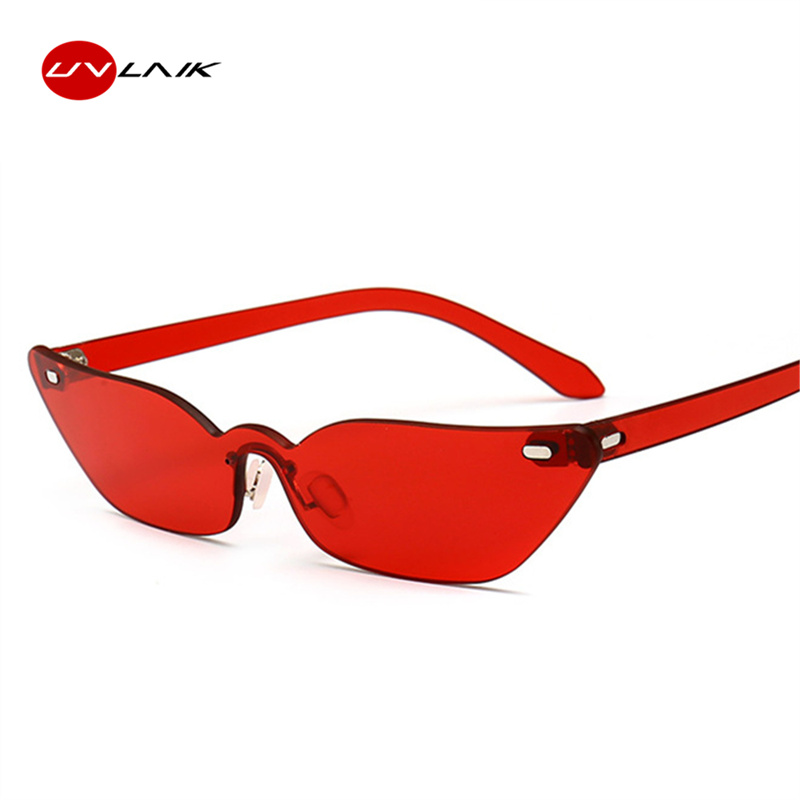 0fc7b19cb7 Detail Feedback Questions about UVLAIK Narrow Frame Sunglasses Small Cat  Eye Sun Glasses Women 2018 Rimless Luxury Sunglass Ladies Vintage Eyeglasses  on ...