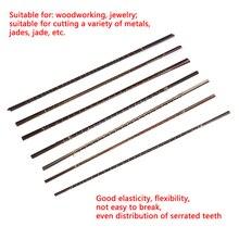 12шт 130 мм провод Диаманта увидел лезвие резца ювелирные изделия резки металла джиг лезвия деревообработка ручной инструмент ремесло прокрутки Спиральн зубы