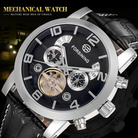 Forsining Top Brand Luxury Automatic Men Watches Automatic Tourbillon Mechanical Wristwatch Horloges Mannen FSG165M3S4 Gift Box