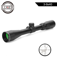 LUGER 3 9x40 Hunting Scopes Airgun Rifle Outdoor Reticle Sight Scope Mil Dot Crossbow Shooting Tactical Optic Riflescope
