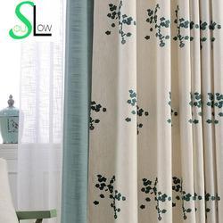 Floral Brodé Rideaux Pour Salon Coréen Style Qualité Fenêtre Rideau Rideaux Pour Le Salon Gardinen Cortinas CL-63