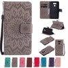 For Coque LG G6 Case Premium 3D Emboss Sunflower Folio PU Leather Kickstand Cover Case for LG G6 G5 G4 G3 G4 Mini / G3 Mini