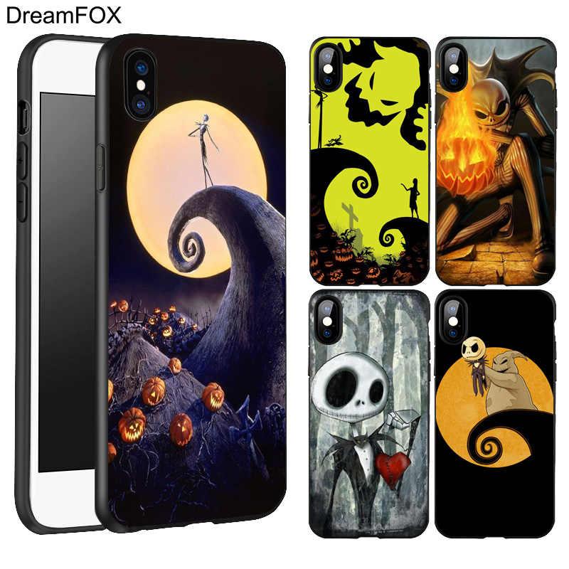 DREAMFOX L189 Jack Skellington Black Soft TPU Silicone Case Cover ...