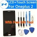 Для Oneplus 2 ЖК-Дисплей + Сенсорный Экран Новый Оригинальный Дигитайзер Стеклянная Панель Ассамблея Экран Для Один плюс 2 Oneplus Two 5.5