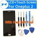 Para oneplus 2 pantalla lcd + pantalla táctil nuevo original digitalizador asamblea de cristal del panel de pantalla para uno más 2 oneplus two 5.5