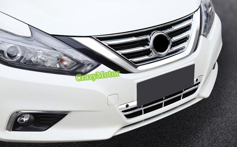 2PCS FRONT GRILLE GRILL COVER TRIMS FRAME FOR NISSAN TEANA ALTIMA 2016 2017 CAR STYLING