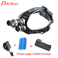 1 T6 2 T6 6000Lm Led Headlight Headlamp Headlight Led Torch For Bicycle Camping Hiking 1
