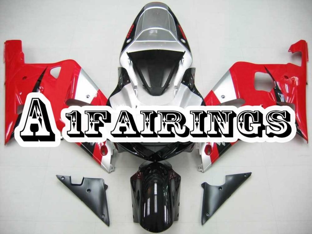 Carénages d'injection ABS pour Suzuki 2001 2002 2003 GSXR600/GSXR750 K1 01 02 03 Sportbike plastique argent rouge noir