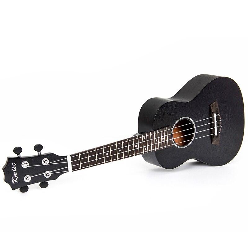 Kmise Concert Ukulele Ukelele Uke 23 inch 4 String Hawaii Acoustic Guitar Sapele Black Tint Satin